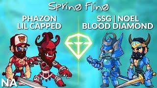 Phazon & Lil Capped vs noeL & Blood Diamond - NA 2v2 Top 3 - Brawl League Spring Fling