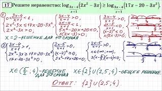 Задание 15 ЕГЭ по математике #40