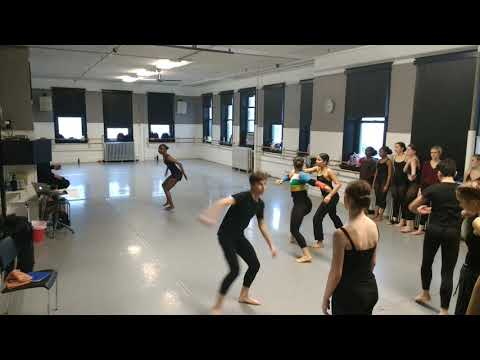 Brian's Dance Department rehearsal at the Chicago Academy for the Arts 3/29/19