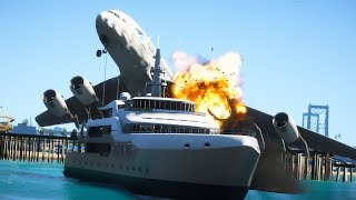 Garuda Indonesia Airbus A380 Emergency Crash Landing On A Yacht | GTA 5
