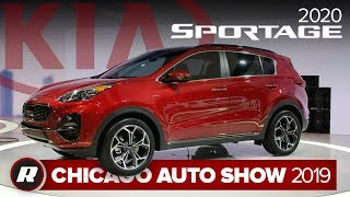 Zapętlaj 2020 Kia Sportage is less weird looking than before | Chicago 2019 | Roadshow