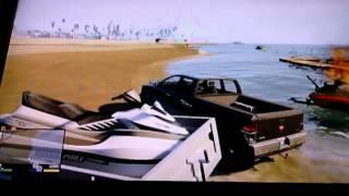 Gta 5 how to load a jet ski on trailer