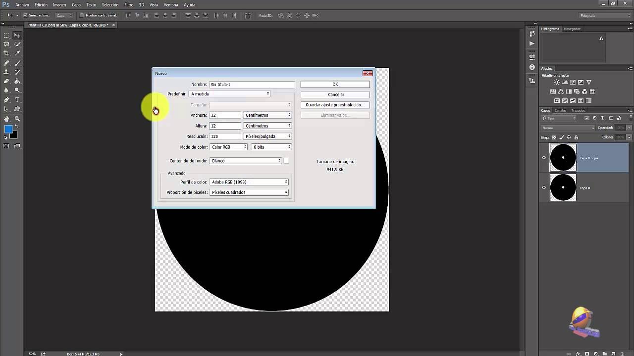 Photoshop: Diseñar plantilla para CD y caratulas - YouTube