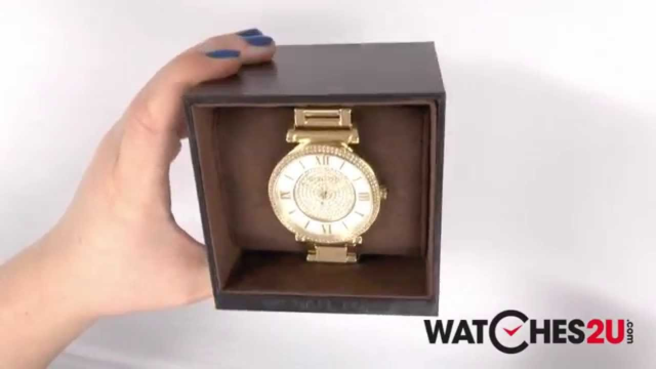 4defe3fde66 MK3332 Michael Kors Ladies Catlin Gold Plated Watch - YouTube