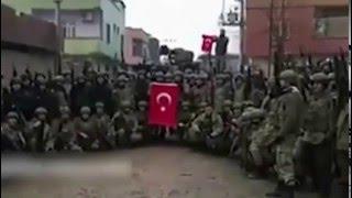 Silopi Sokaklarında Kahramanlarımız Komando Marşıyla İnlettiler