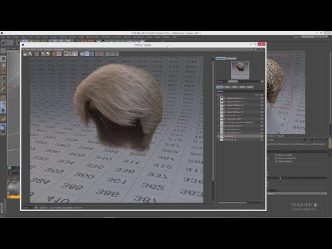 Tutorial No.34 : Learn how to use Hair Shader in Arnold for Cinema 4d