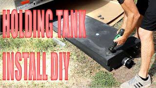 Cargo Trailer Camper Conversion Grey Water Tank Installation w/ Grommet Install