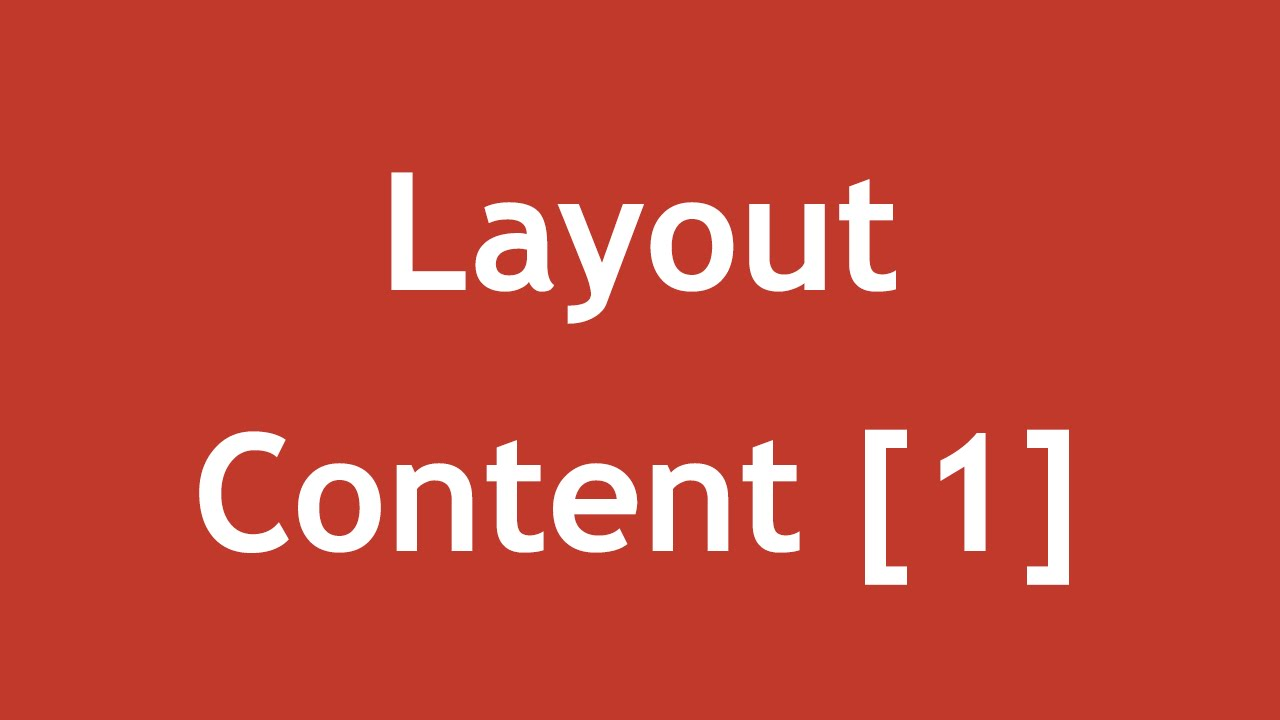 [ Arabic Tutorial Create Template ] #03 - Layout Content Part 1