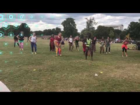 Wuntanara Drumming and Dance workshops in Brockwell Park, London - Kuku rhythm - Aug 2020
