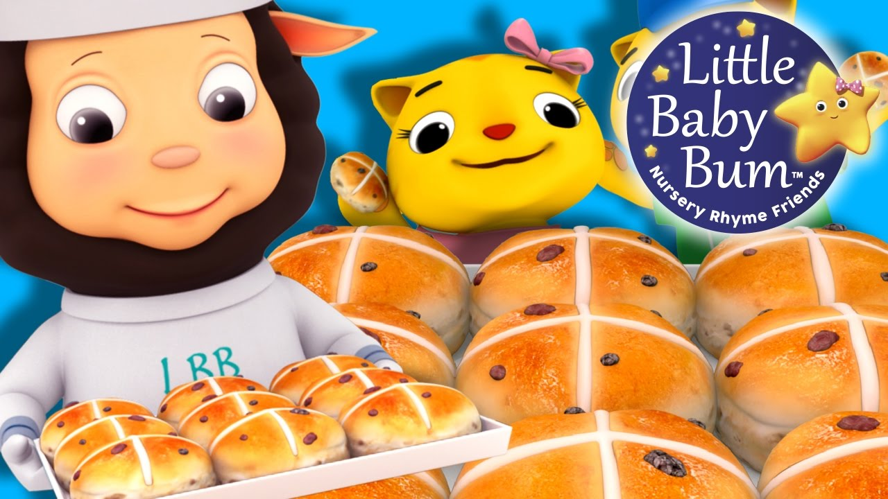Hot Cross Buns | Nursery Rhymes | by LittleBabyBum! | ABCs and 123s