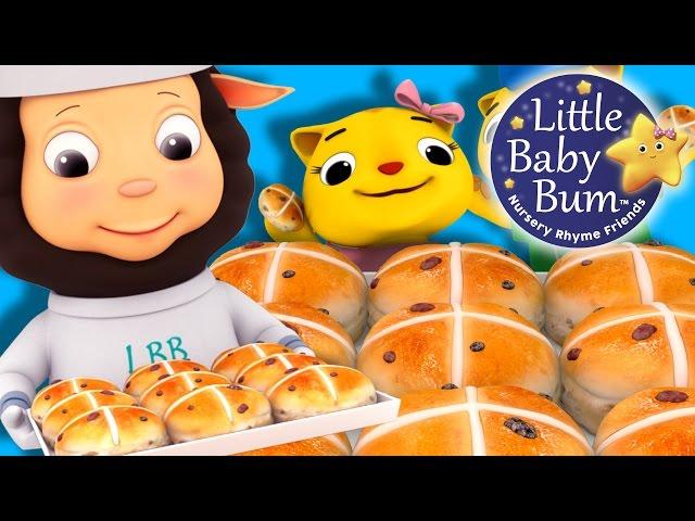 Hot Cross Buns   Nursery Rhymes   by LittleBabyBum!   ABCs and 123s