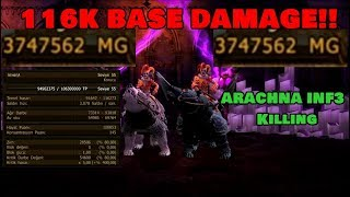 Drakensang Online   Athena 116k Base Damage /w Andseyne Killing inf3 Arachna