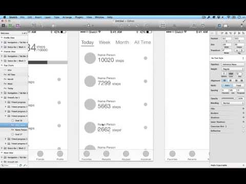 Creating an iOS app mockup with Sketch (part 1)