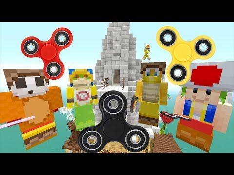 Minecraft Wii U - Nintendo Fun House - Bowser Jr is Fidget Spinner Man! [74]