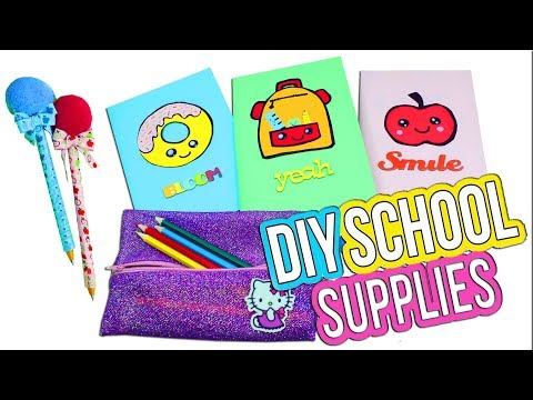 3 Easy DIY School Supplies - 5 Minute Crafts - Back To School Crafts