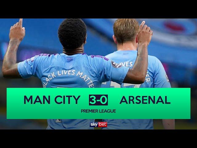 Manchester City 3-0 Arsenal | Sterling, De Bruyne & Foden