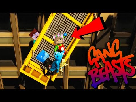 LITTLE KELLY DID THE IMPOSSIBLE!! GANG BEASTS w/ Sharky and Little Kelly