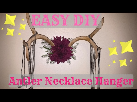 *EASY* DIY Antler Necklace Hanger