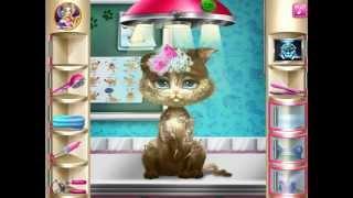 Барби Лечит Котёнка 2015 Добрая Принцесса Счастливая Киска Розовая Одежда Для Котенка Барби