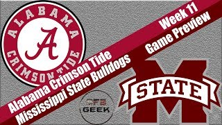 Alabama vs Mississippi State 2018 Game Preview and Prediction (sure to go wrong...)