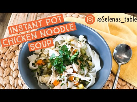 how to make...INSTANT POT Healing Chicken noodle soup with FROZEN chicken and 7 Vegetables. GF from YouTube · Duration:  3 minutes 21 seconds