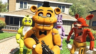 animatronics vs house robbery gta 5 mods fnaf funny moments