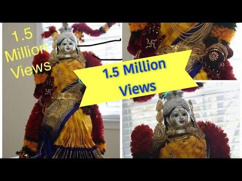 Varamahalakshmi Alankar | Saree Draping |VaraLakshmi Vratham idol Preparation