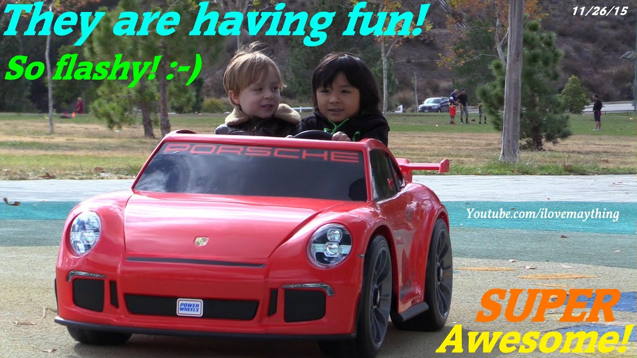 toy cars fisher price ride on power wheels porsche 911 gt3 playtime drive w hulyan maya youtube