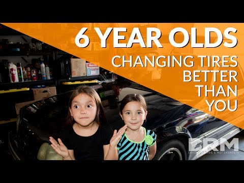 5 And 6 Year Old Girls Change Tires Better Than You Can - Front Tire Upgrade To Nitt0 NT01's