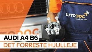 Vedligeholdelse Audi A4 B8 - videovejledning