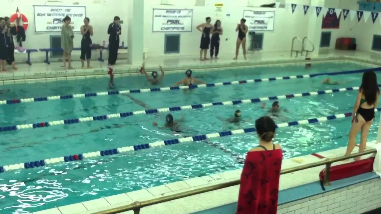 Crazy Brooklyn Tech Senior Girls Swim Relay Youtube
