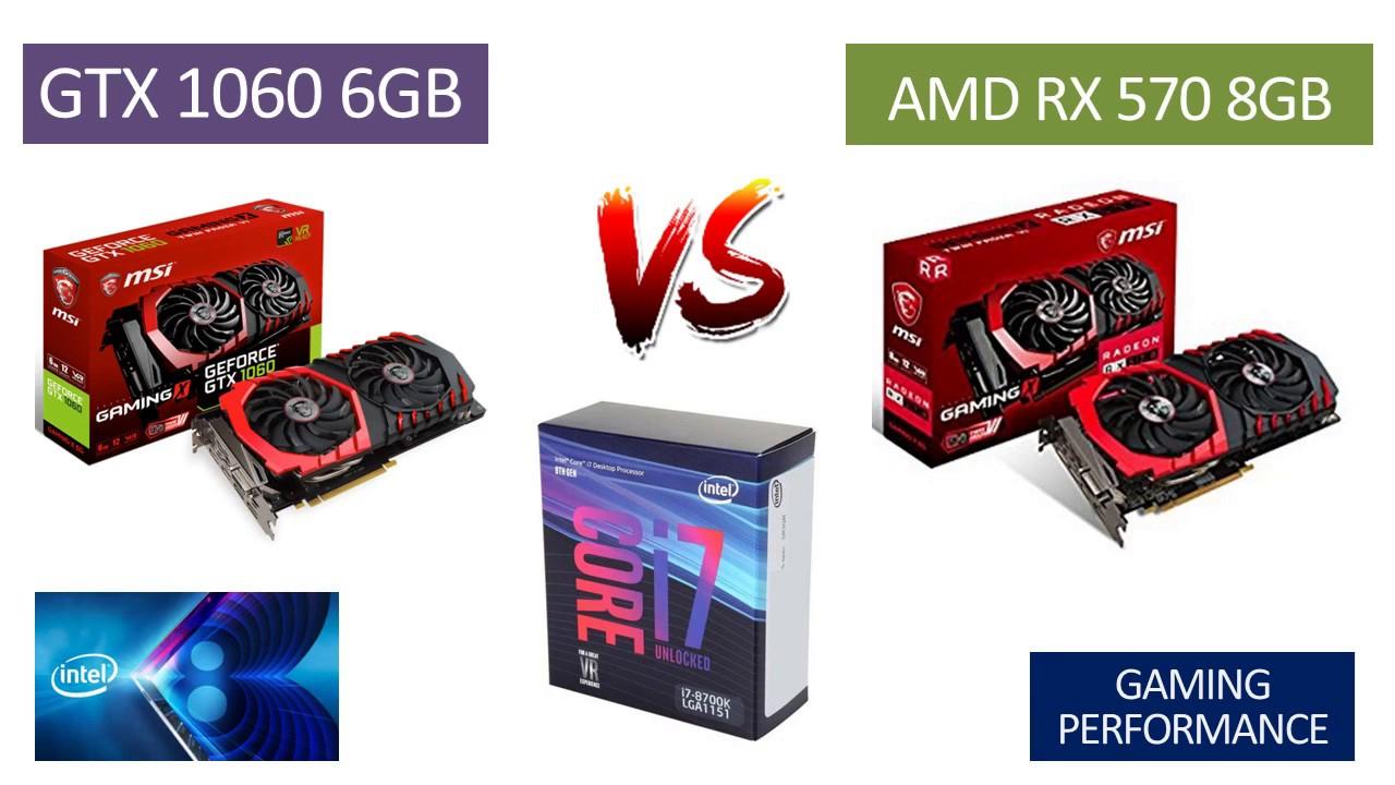 GTX 1060 6GB vs RX 570 8GB - i7 8700k - Benchmarks Comparison