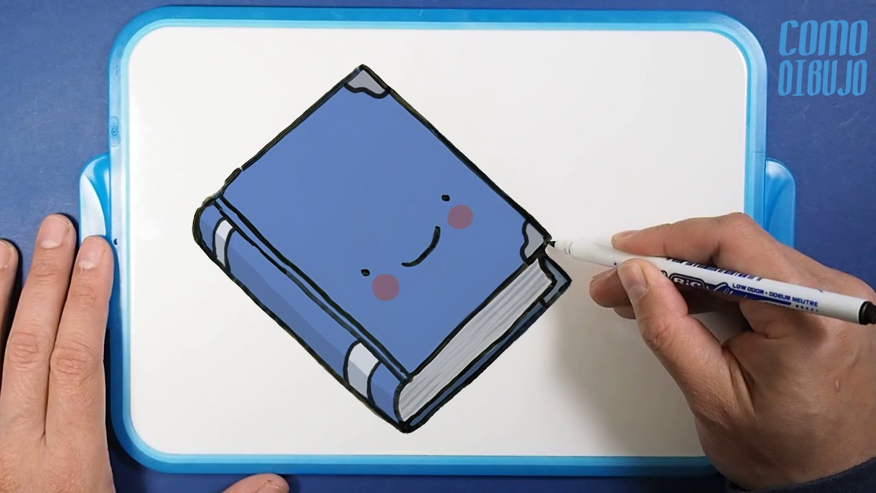 Como Dibujar Y Colorear Un Libro Kawaii How To Draw A Book