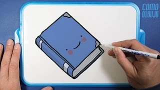 Como Dibujar Libro Kawaii | How to Draw a Book | Dibujar Kawaii es Fácil