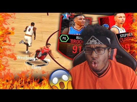 Signature Bundle Pack Opening! WESTBROOK BROKE CURRY ANKLES TWICE?! NBA Live 16 Mobile Gameplay #2