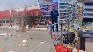Arrestation Ousmane Sonko : Les manifestants Vident le magasin Auchan des HLM Grand Yoff