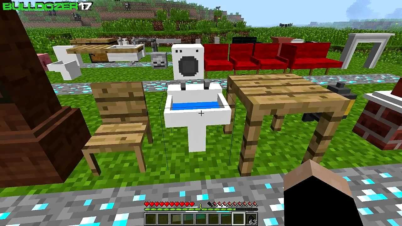 Minecraft Jammy Furniture Mod En Espa Ol 1 2 5 Youtube