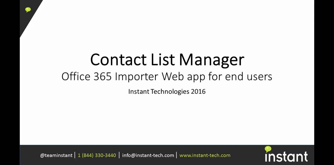 instant contact list manager demo web app instant contact list manager demo web app