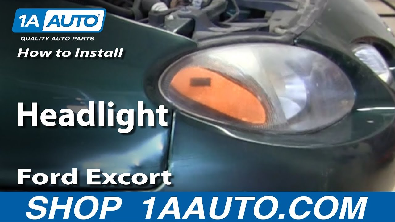 1998 Ford Escort: I adjust the head light aiming direction