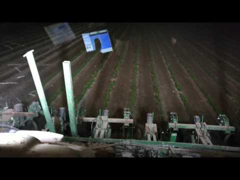 organic soybeans cultivation- John deere 8310r