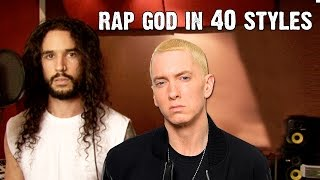 Repeat youtube video Eminem - Rap God | Performed In 40 Styles | Ten Second Songs