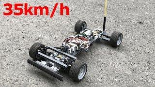 35km/h - MY FASTEST LEGO CAR - Lego Technic RC Fast Car with DIY system