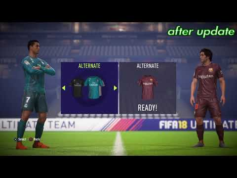 Fifa 18 Before Update And After Update.