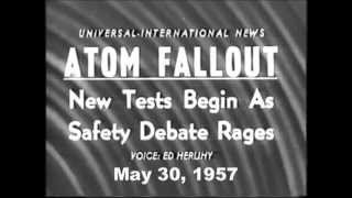 Atomic Fallout from Testing 1957 Nevada USA