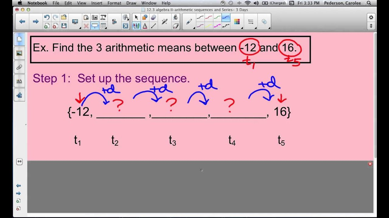 arithmetic sequence Engaging math & science practice improve your skills with free problems in 'solving word problems using arithmetic series' and thousands of other practice lessons.
