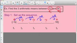 Finding missing terms in arithmetic sequence #1