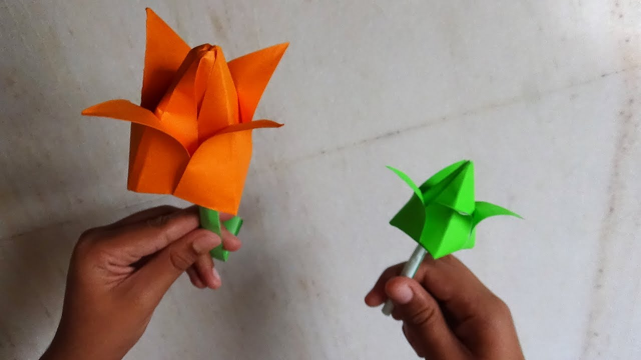 Art and crafts how to make an origami lotus flower youtube art and crafts how to make an origami lotus flower dhlflorist Image collections