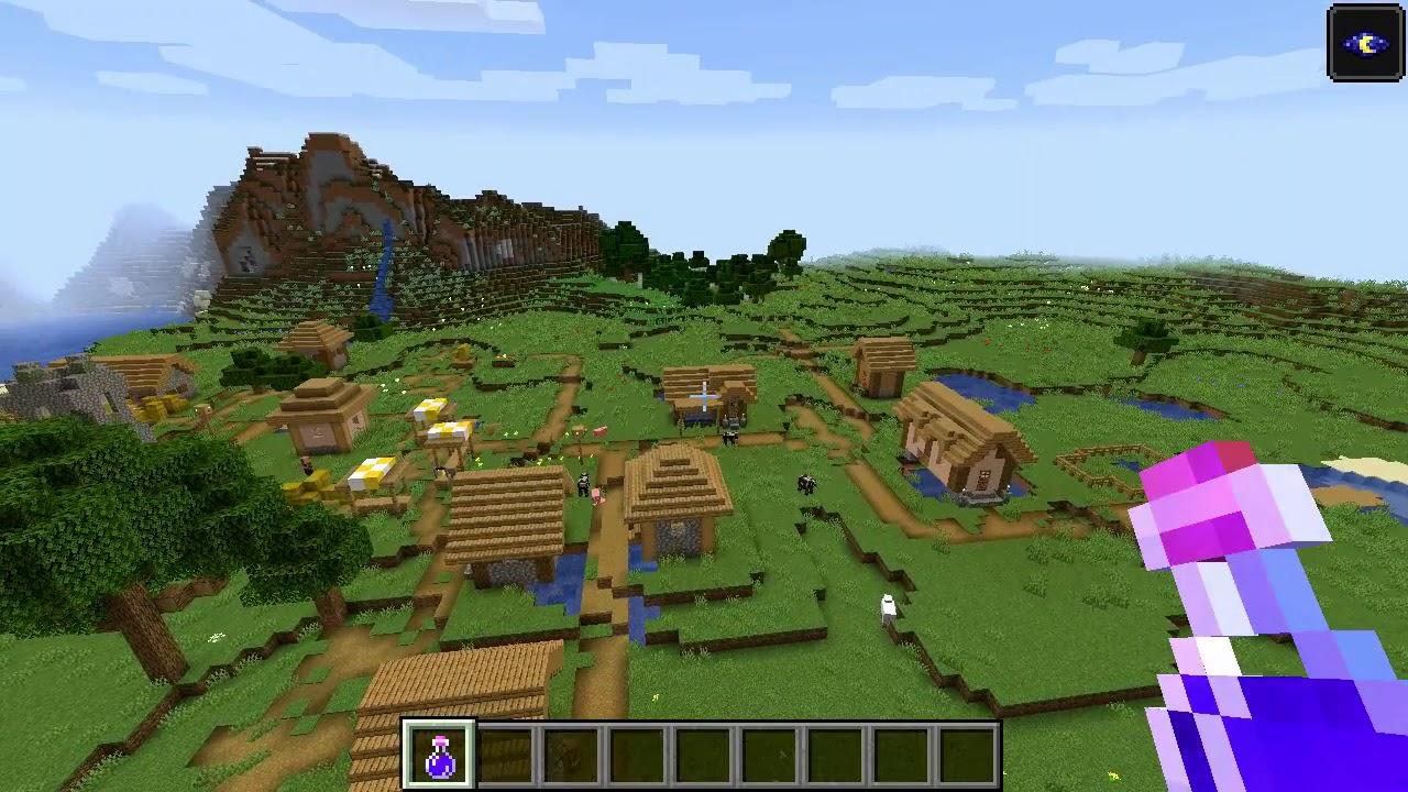 Minecraft 1.14 Seed 141: Village, dungeon and mineshaft at ...
