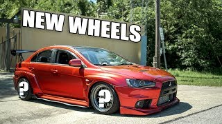 homepage tile video photo for NEW WHEELS FOR THE EVO X!