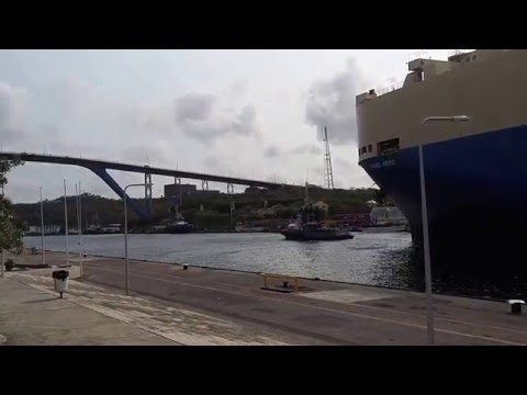 Grand Hero Ship Entering Curacao Harbour